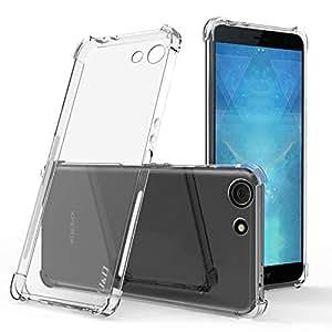 J&D 手机壳适用于 Xperia XZ4 紧凑型手机壳,[边角缓冲] [超清晰] 耐冲击保护纤薄 TPU 缓冲保护套,适用于 Sony Xperia XZ4 紧凑型手机壳 - [不适用于 Xperia XZ4] 透明的