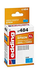 edding 墨盒 EDD-484 替换爱普生 T29XL (T2992) – 青色 – 8.5 毫升