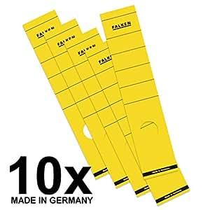 Falken 纸背标签 Rückenbreite 60 mm Breit 黄色