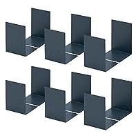 咖路办公用品 书架 大 深灰色 LB-55-E 6組12枚 深灰色