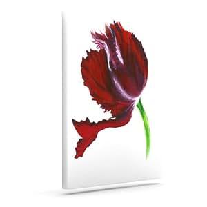 "Kess InHouse Lydia Martin""深紫色郁金香""户外帆布墙壁艺术 8"" x 10"" 紫色 LM1010AAC01"