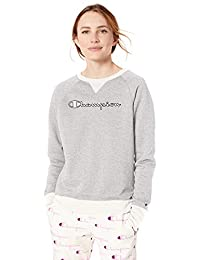 Champion 女式 Powerblend Boyfriend 圆领运动衫