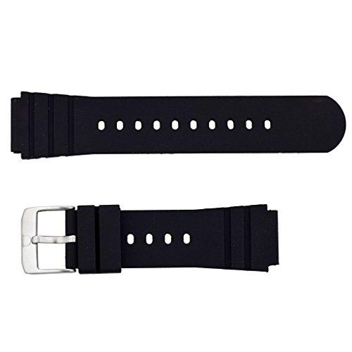 Luminox互換性のある時計リストストラップの交換 - カシオ、Invicta、Seiko、Luminoxなどのためのスプリングロッドとツールセット付き22 mm時計ストラップ - ブラック