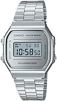 Casio Unisex Erwachsene Digital Quarz Uhr mit Edelstahl Armband