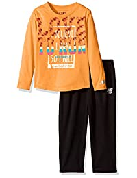 New Balance 女童长袖上衣和紧身裤套装