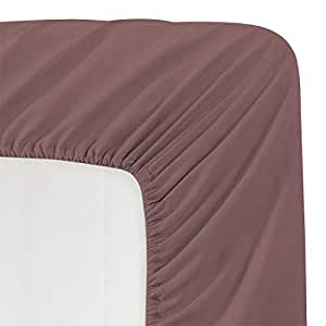Luxe Bedding * 拉绒超细纤维纯色深口袋床笠 - *店品质 - 防起皱、褪色、污渍和耐磨 棕色 King