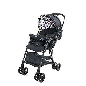 日本 Aprica 阿普丽佳 婴儿推车 凯乐全能高景观儿童推车伞车 (彩格)  车重5.2kg (适合0-3岁宝宝,双向推车把手,5点式安全带,单手收车可自立,空冷式散热折射椅背双向可视遮阳蓬)