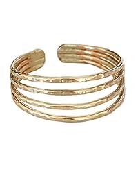 趾环 | 四股金色填充可调节趾环 | 为您的脚趾设计 | 美国制造