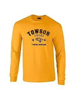 NCAA Towson Tigers * 防缩水长袖 T 恤,金色,XL 码