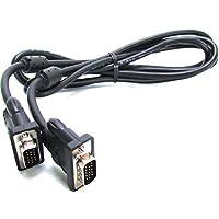 GE SVGA 电缆,视频,6 英尺电缆,VGA,公对公接头,适用于投影仪、显示器、HDTV、电脑、显卡,黑色,33592