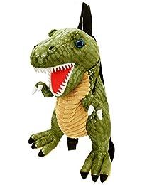 【UNIQUE】独特 恐龙毛绒背包/背包 un-0139 绿色 個装サイズ/35×30×18cm -