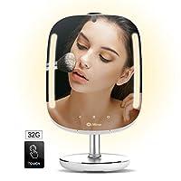 HiMirror Mini 32G。 *鏡,雙內存容量,智能梳妝鏡,帶皮膚分析儀,2 x 3 放大鏡,帶 LED 化妝燈的鏡子。