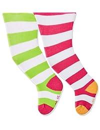 Playshoes 女童条纹舒适裤袜(2 件)
