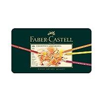 Faber-Castell 辉柏嘉110011 POLYCHROMOS炫彩彩色铅笔, 120色 金属盒装
