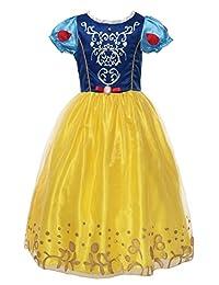MUABY 小女孩泡泡袖装扮服 白雪公主裙