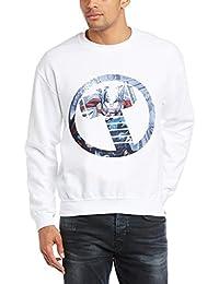 Marvel 男士复仇者联盟雷神标志标志长袖运动衫