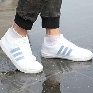 Blppldyci 可重复使用的硅胶防水鞋套,硅胶鞋套带防滑橡胶鞋保护罩,适用于儿童、男式和女式鞋套,雨靴易于携带