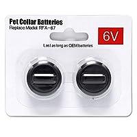 2 件装宠物项圈电池与 PetSafe RFA-67 6 伏替换电池兼容