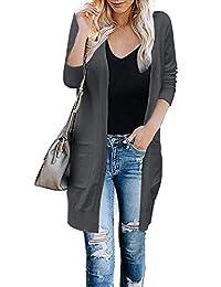 Cogild 女式开衫毛衣 轻质宽松前开式长袖针织毛衣