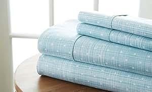 SIMPLY SOFT 4件套圆点图案床单套装