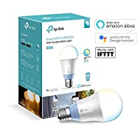TP-Link Smart LED Wireless E27 Light Bulb, Dimmable Light, 7 W, Works with Amazon Alexa, Free Kasa Application Control, No Hub Required LB100, 1-Pack