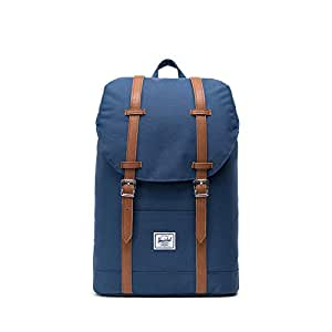 Herschel Supply Co. Retreat Mid-Volume Backpack Navy/Tan Synthetic Leather 均码