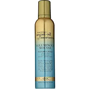 OGX Renewing Argan Oil of Morocco Voluminous Mousse, Flexible Hold, 8 Ounce (Pack of 2)