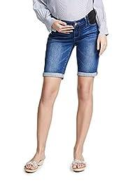 PAIGE 女式孕妇爵士及膝短裤,带弹性内衬