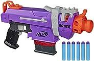 NERF 热火 Fortnite SMG-E冲击波-电动飞镖冲击波-6个弹夹,6枚官方精英飞镖-适用于青少年,青年,成人