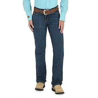 WRANGLER 女式耐燃西部女士中腰喇叭牛仔裤 Mid Stone 11x30