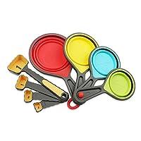 Local Makes A Comeback – 8个硅胶勺套装 – 烘焙用具厨房工具套装。 黄色