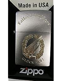 Zippo Paratrooper Luck - ab! 贝雷帽徽章 - 钻石雕刻。