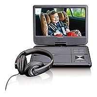 Lenco DVP-1010 便携式DVD播放器,10英寸(25.5厘米),高分辨率(1024 x 600),内置可充电电池(USB,SD,AV),AC适配器,耳机