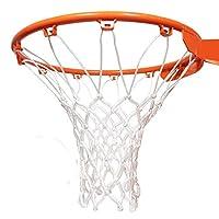 JTEEY 专业重型篮球网替换件,优质厚全天候防鞭,适合标准室内或室外轮辋,12 环环箍轮辋
