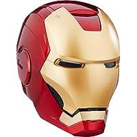 Marvel Legends 漫威超级英雄系列钢铁侠角色扮演头盔,双眼处带 LED 灯,配备电子音效和可拆式磁化面板,红色和金色,均码,可调节,适合 15 岁以上用户