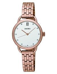 Seiko Women's SUR698 Rose-Gold Stainless-Steel Quartz Fashion Watch