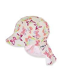 Sterntaler 思丹乐 女童遮阳帽 带颈部保护装置 白色