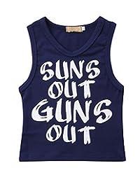 幼儿男孩 Sun's Out Guns Out 背心无袖 T 恤 黑色 5T
