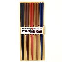 SANLIFE 来客用筷子 彩色八角PBT筷子 23cm 5双套装 317594