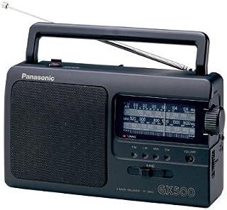 Panasonic 松下 RF-3500E9-K 便攜式收音機(模擬調諧器(FM /MW/LW/SW),電源和電池供電)黑色