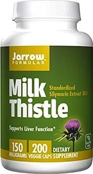Jarrow Formulas杰诺 奶蓟草精华胶囊,促进肝脏健康,150毫克/粒,200粒胶囊