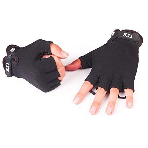 IPENNYメンズノンスリップ乗馬手袋手袋は通気性の夏の屋外のオートバイバイクキャンプ登山に適したスポーツ指手袋を衝撃乗っハーフフィンガーグローブバイク