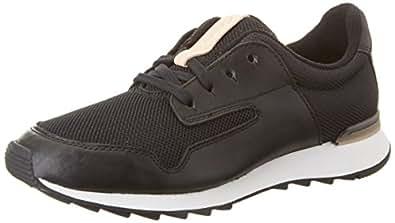 Clarks Women's Floura Mix Low-Top Sneakers Black (Black Leather) 37.5 UK