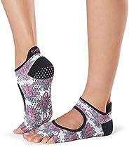 toesox 女式 bellarina 全頭手柄防滑適用于芭蕾 yoga 普拉提 barre 腳趾襪