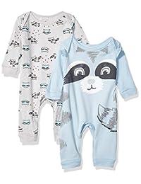 Quiltex 男童幼儿小浣熊印花可爱新奇连体服 2 件套