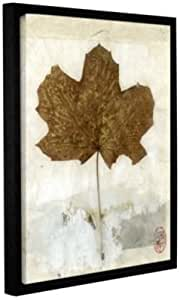 Elana Ray's Golden Leaf Gallery Wrapped Floater Framed Canvas, 14 x 18""