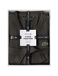 LACOSTE 鳄鱼经典珠地布盒装睡袍,* 棉,均码 夹子 均码 RB16708N198DIBOX