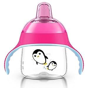 AVENT 新安怡 卡通企鹅 鸭嘴杯200ml 6个月+ 蓝/粉色 随机发货 (产地:印度尼西亚) SCF751/12