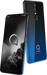 Alcatel 3 5053K 智能手机(14.98厘米(5.9英寸)IPS 显示屏,双接口,64 GB 内存,4 GB RAM,Android 9.05053K 黑色,蓝色