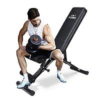 FLYBIRD 可调节举重椅,多功能健身凳,适合全身锻炼,多用途可折叠倾斜下降凳 - 2019 版